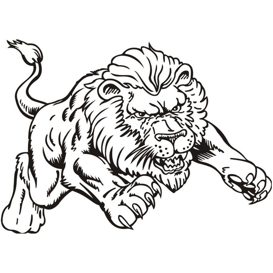 Leão Para Colorir E Imprimir