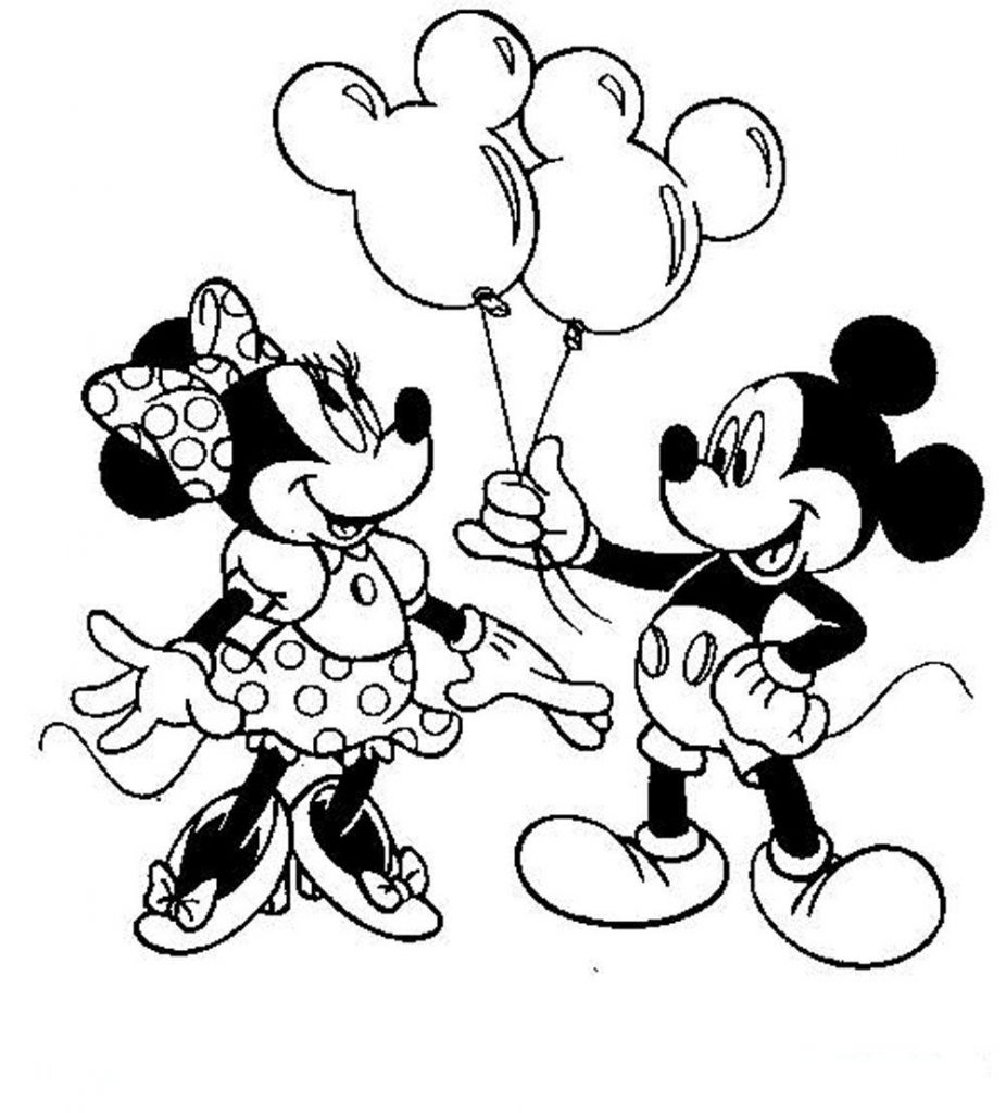 Mickey para colorir e imprimir muito f cil colorir e - Dessin de mini mouse ...