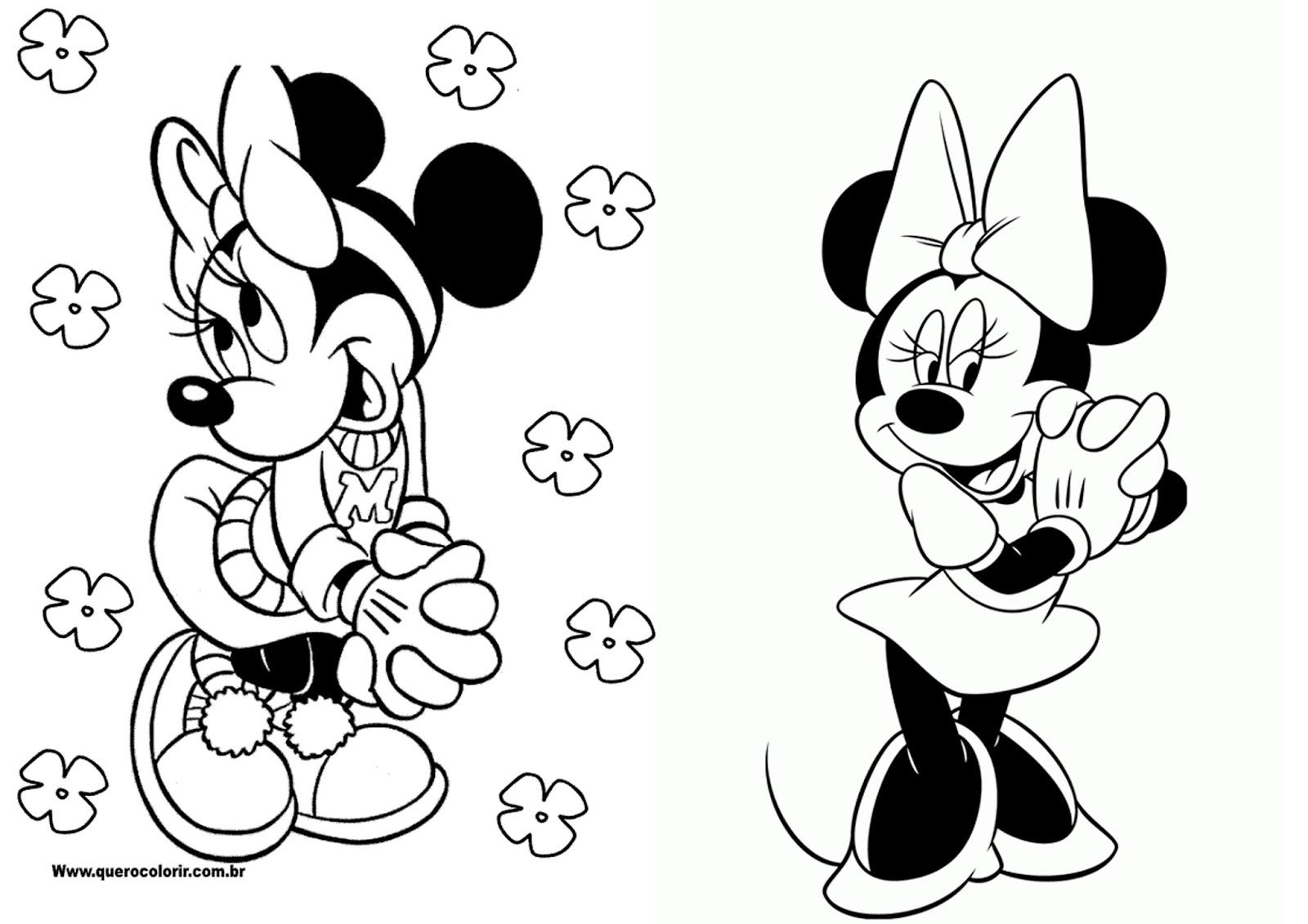Mickey E Minnie Para Colorir E Imprimir Muito Fácil