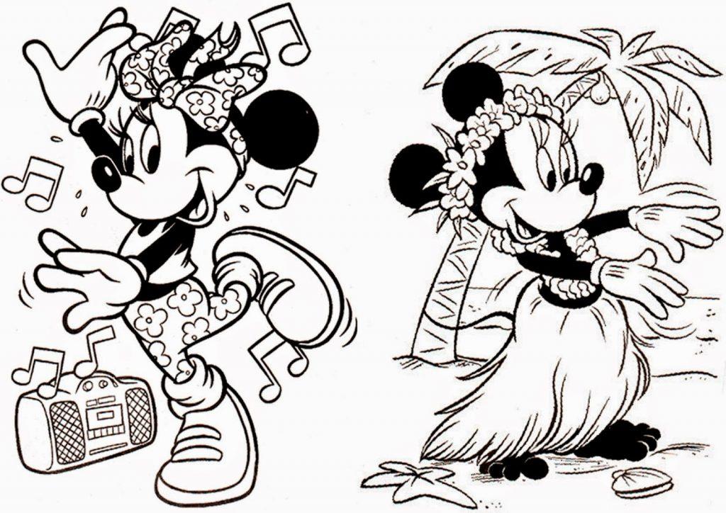 Dibujos De Miki Maus Para Colorear: Mickey E Minnie Para Colorir E Imprimir