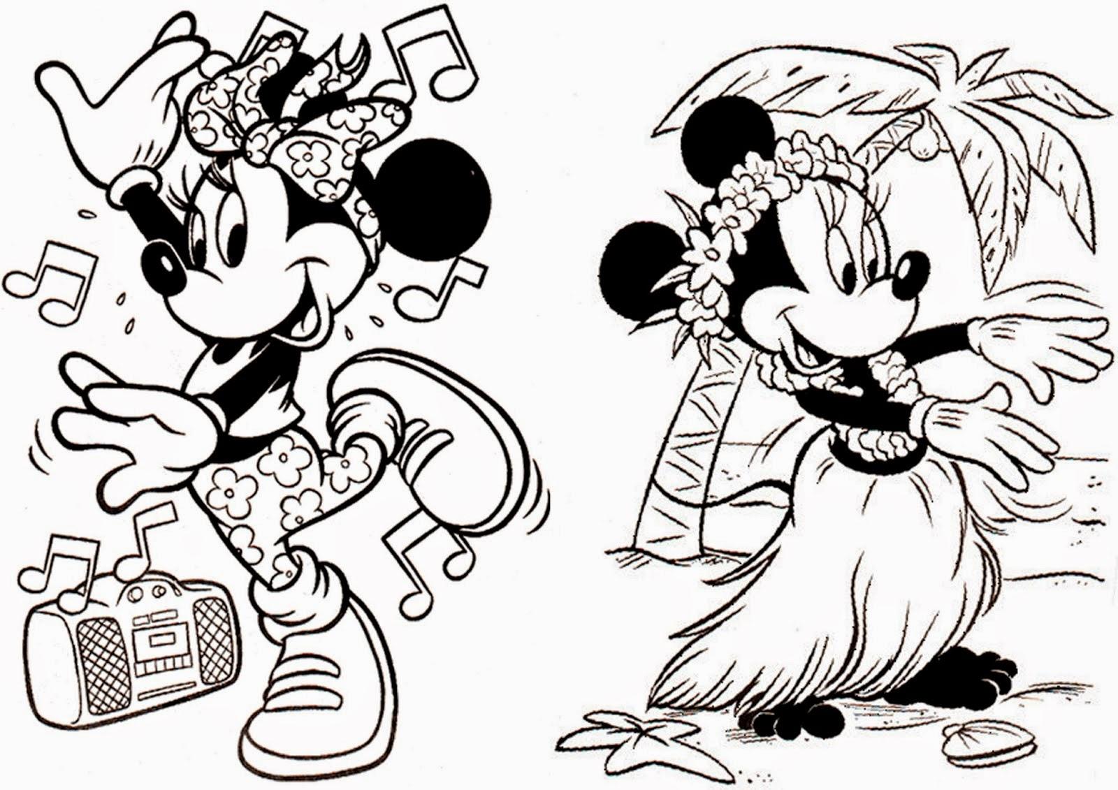 Sus Dibujos Favoritos De Disney Y Píxar Ahora Se Pueden Pintar: Minnie Para Colorir E Pintar 5