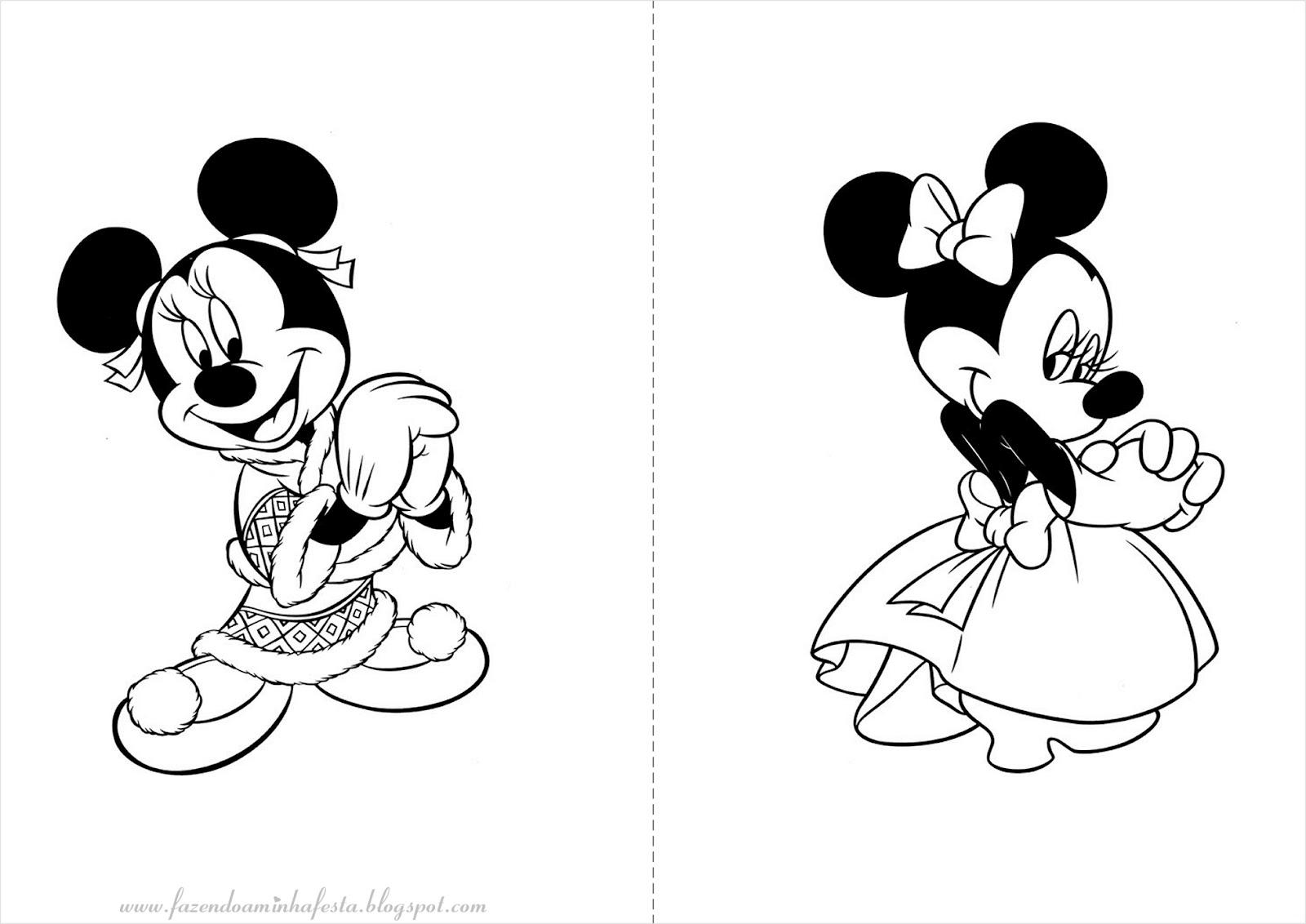 mickey e minnie para colorir e imprimir muito fácil colorir e pintar