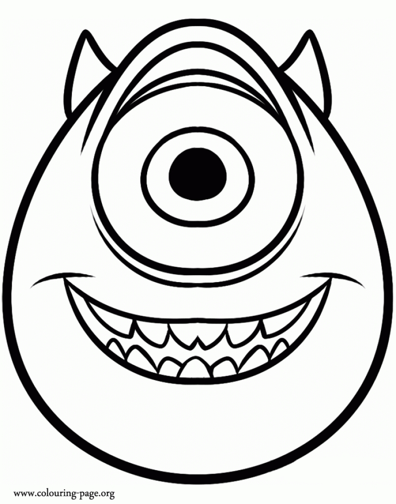 Monstros sa para colorir e pintar 41 aprender a desenhar for Mike wazowski coloring page