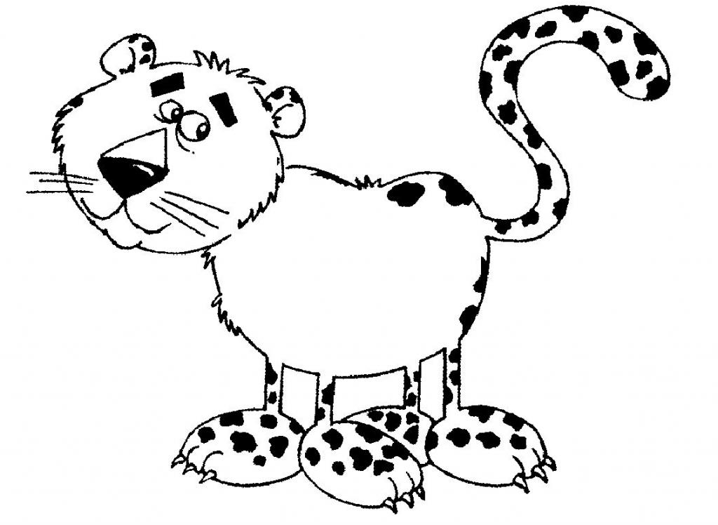 Desenhos De Animais Para Colorir Colorir: Onça Para Colorir E Imprimir