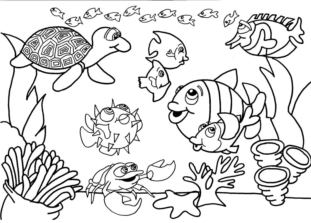 Peixe para colorir e imprimir muito f cil colorir e pintar - Como pintar numeros en la pared ...