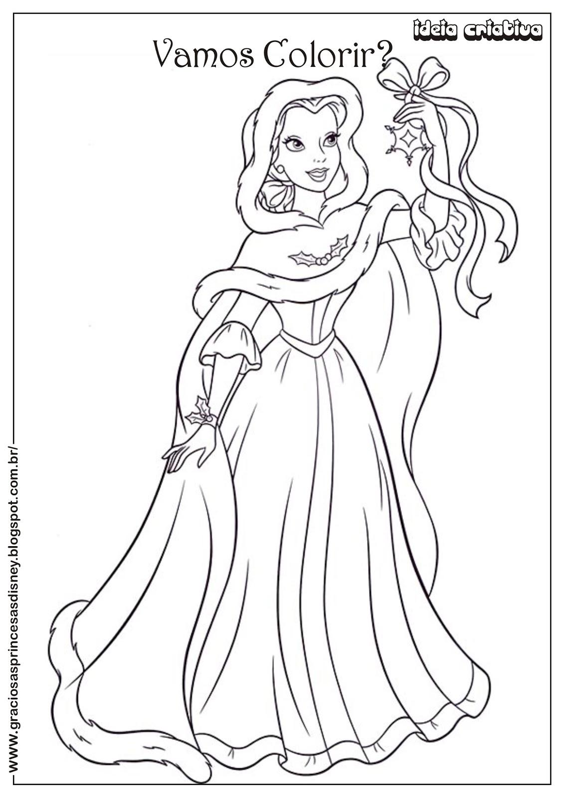 Princesas Para Colorir E Imprimir Muito Fácil Colorir E