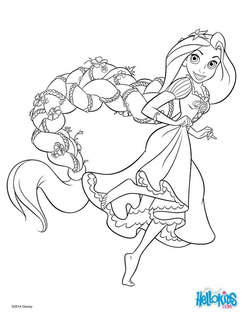 Rapunzel para colorir e imprimir muito f cil colorir e - Reponse dessin anime ...