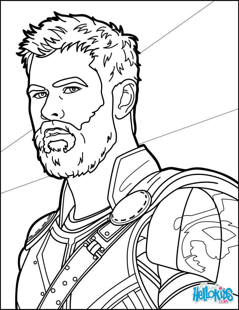 Thor para colorir e imprimir muito f cil colorir e pintar for Infinity coloring pages