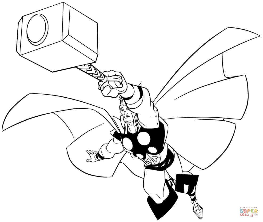 Thor para Colorir e Imprimir