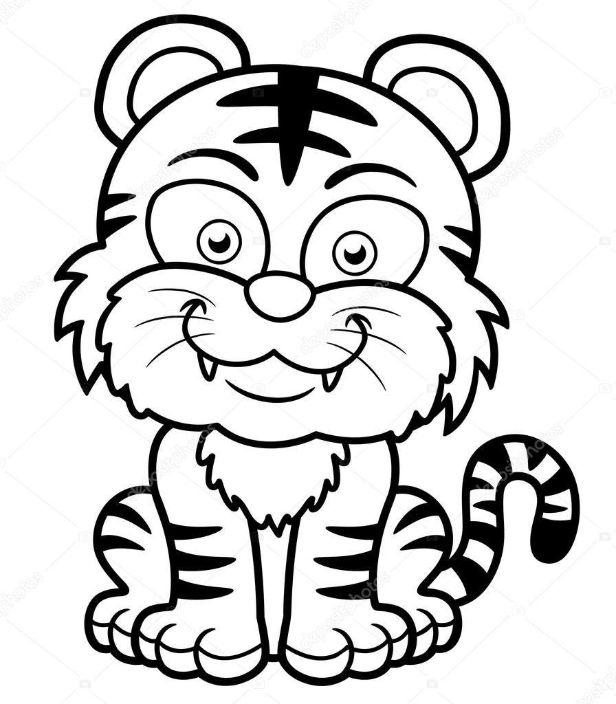 Tigre Para Colorir E Imprimir Muito F 225 Cil Colorir E Pintar