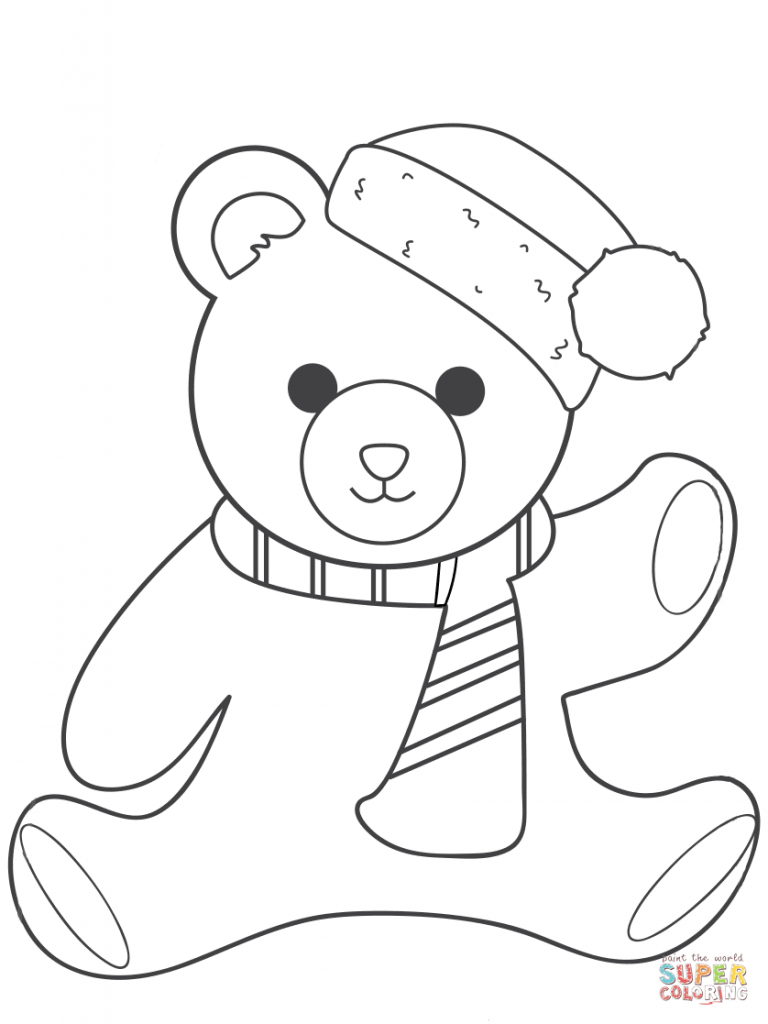 Easy Bear Face Coloring Coloring Pages
