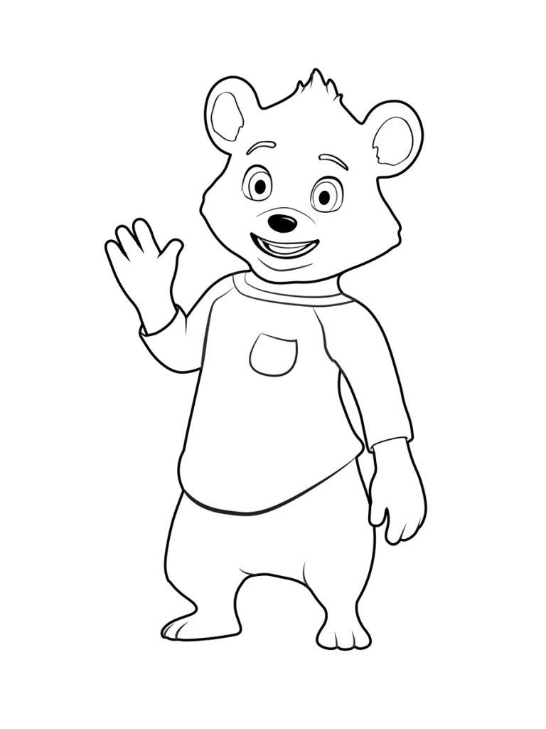 urso para colorir e imprimir - muito f u00e1cil