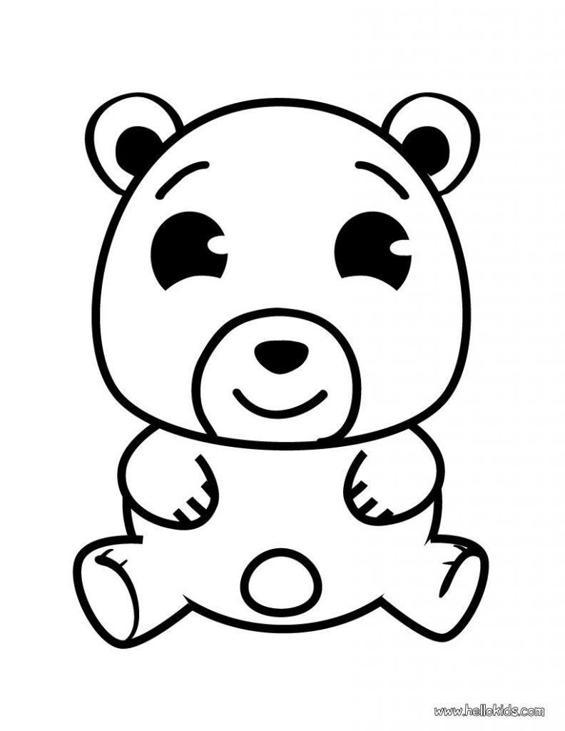 Urso para colorir e imprimir muito f cil colorir e pintar - Dessin pour petit ...