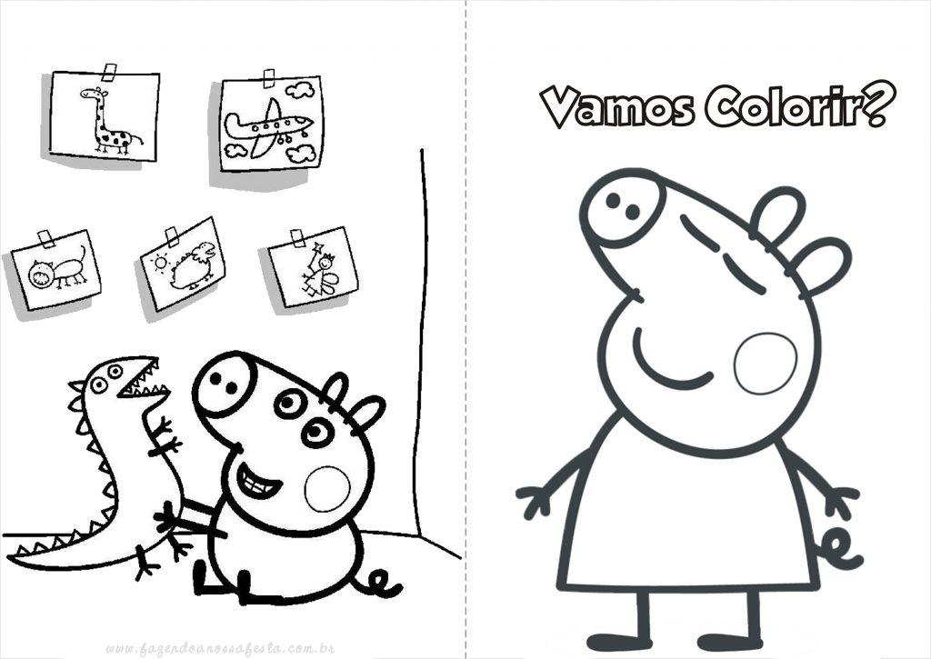Dibujos Para Colorear Imprimir Pdf: Peppa Pig Para Colorir E Imprimir