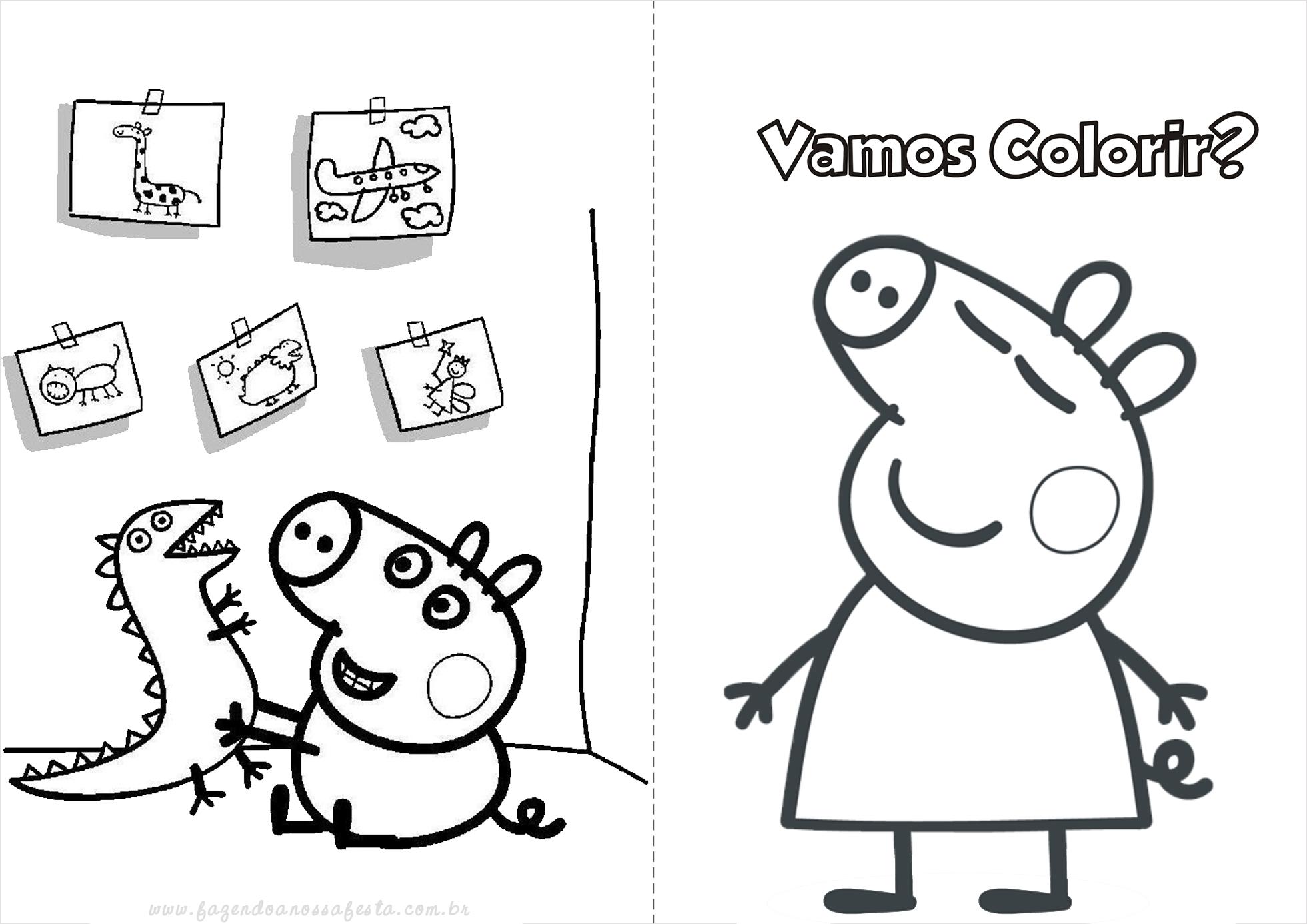 Dibujos Para Colorear No Imprimir: Peppa Pig Para Colorir E Imprimir