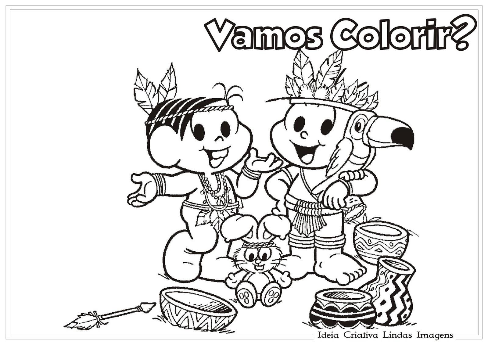 Tattoo Design Bild: Desenhos Dia Do Ndio Com A Turma Da Mnica Para Colorir