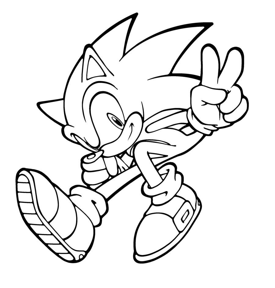Sonic para Colorir e Imprimir