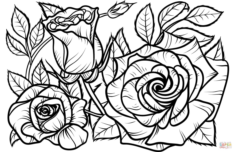 Desenhos De Rosas Para Colorir E Imprimir Muito Fácil