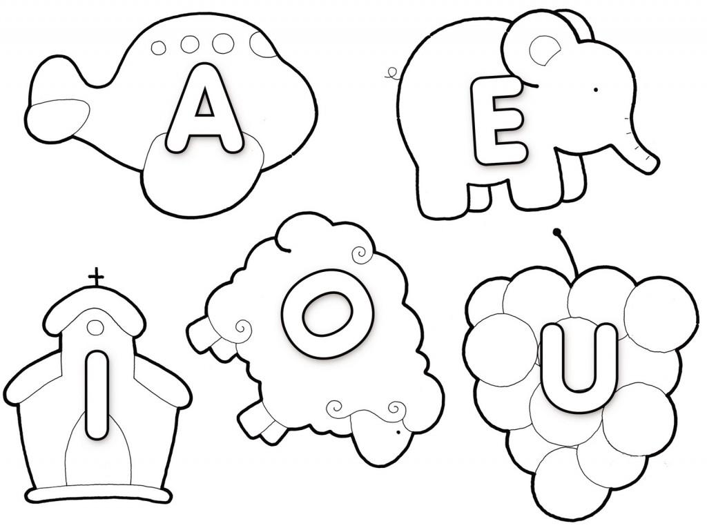 Vogais para Colorir e Imprimir (Muito Fácil) - Aprender a ...