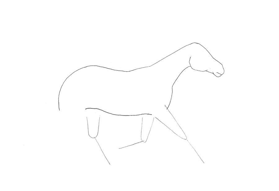 como desenhar um cavalo