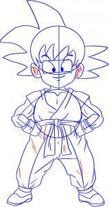 Como Desenhar O Goku De Dragon Ball Muito Facil Aprender A