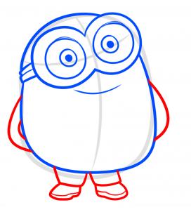 como desenhar o Bob dos Minions