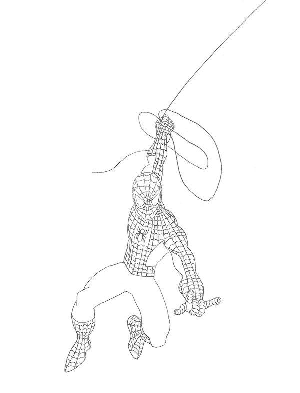 como desenhar o Homem-Aranha