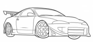 como desenhar um carro