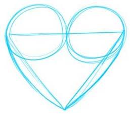 como desenhar um coração