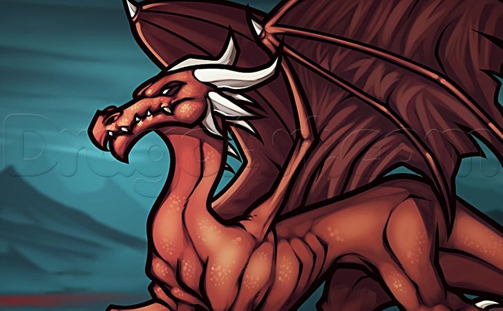 como desenhar um dragão