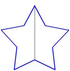como desenhar estrela