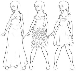 como desenhar vestidos