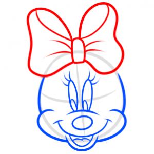 como desenhar a minnie