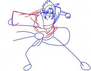 como desenhar o sasuke