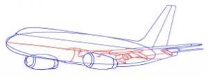 como desenhar um avião