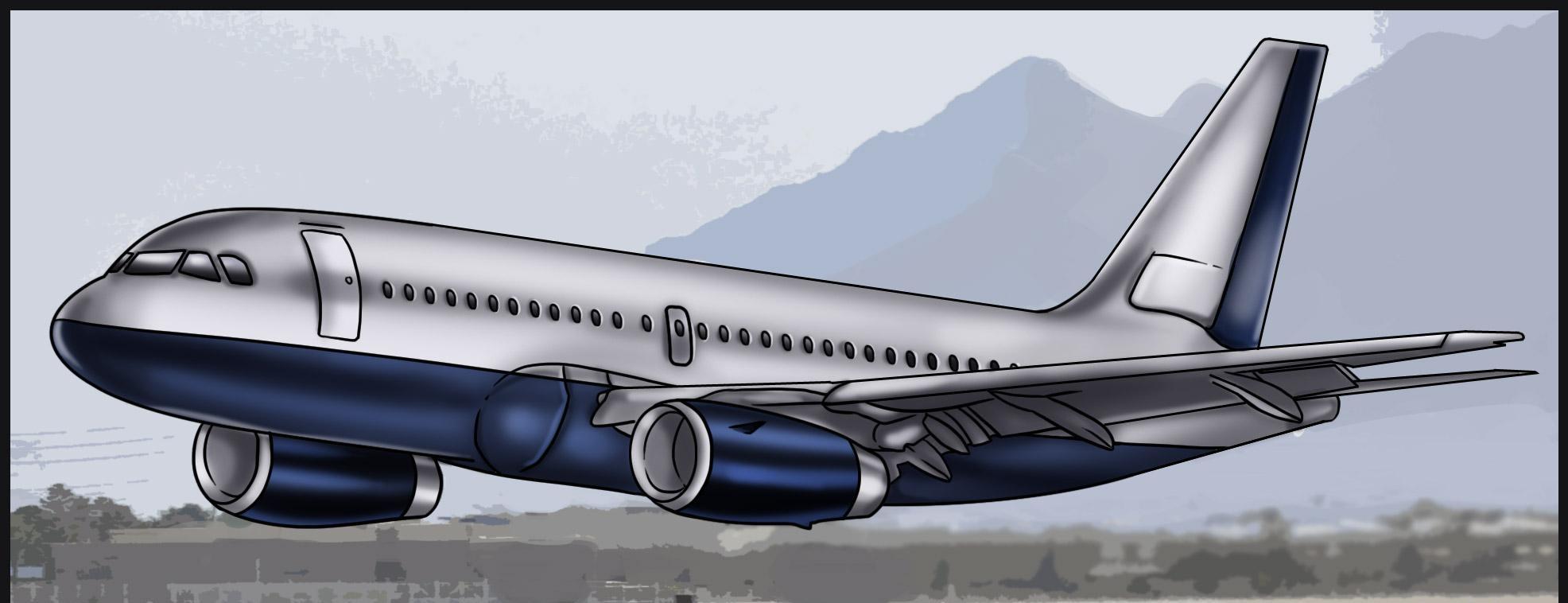Como Desenhar Um Aviao Muito Facil Aprender A Desenhar