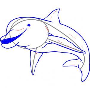 como desenhar um golfinho