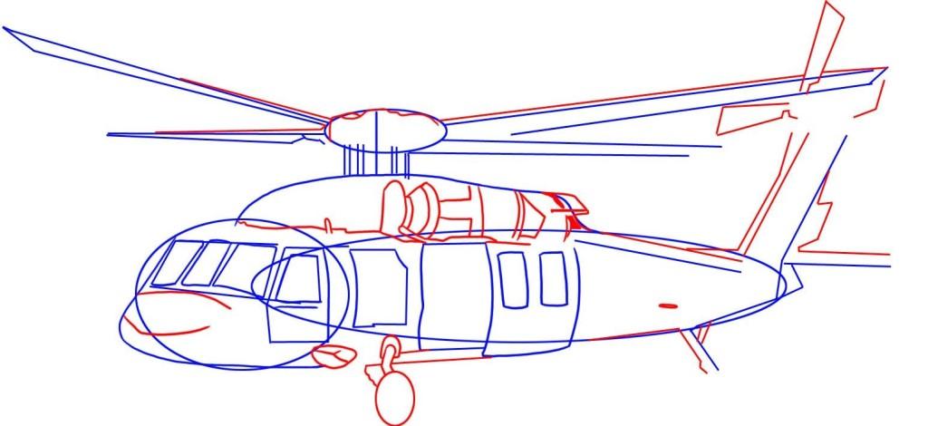 como desenhar um helicóptero