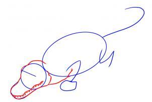 como desenhar um jacaré