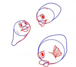 como desenhar um peixe