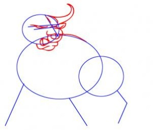 como desenhar um touro