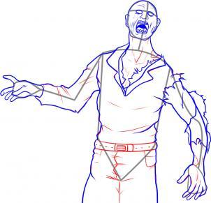 como desenhar um zumbi