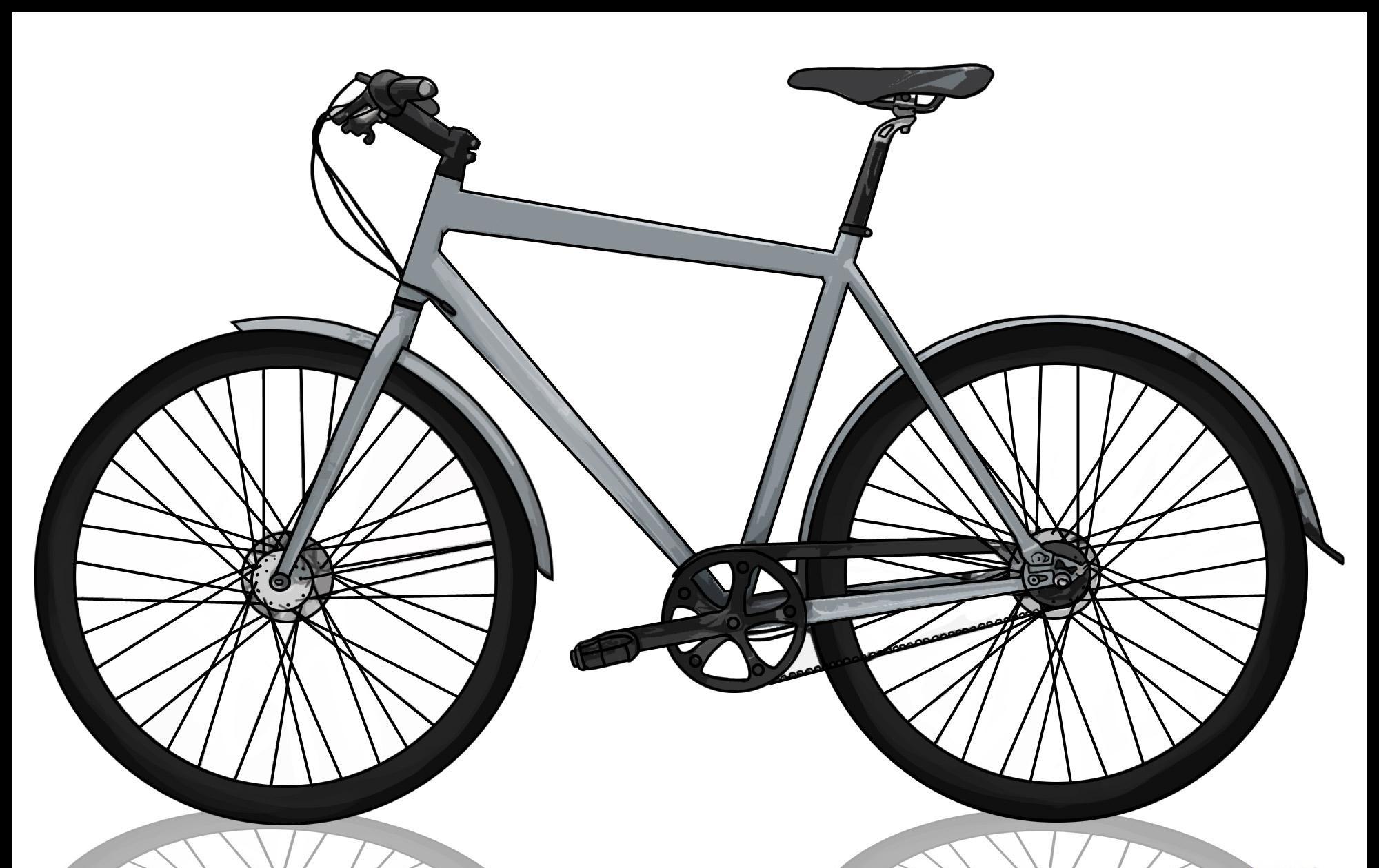como desenhar uma bicicleta