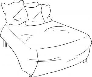 como desenhar uma cama