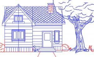 como desenhar uma casa