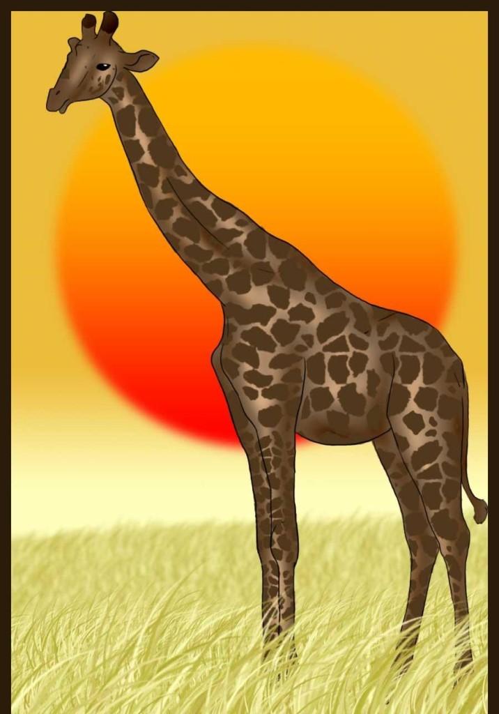 como desenhar uma girafa