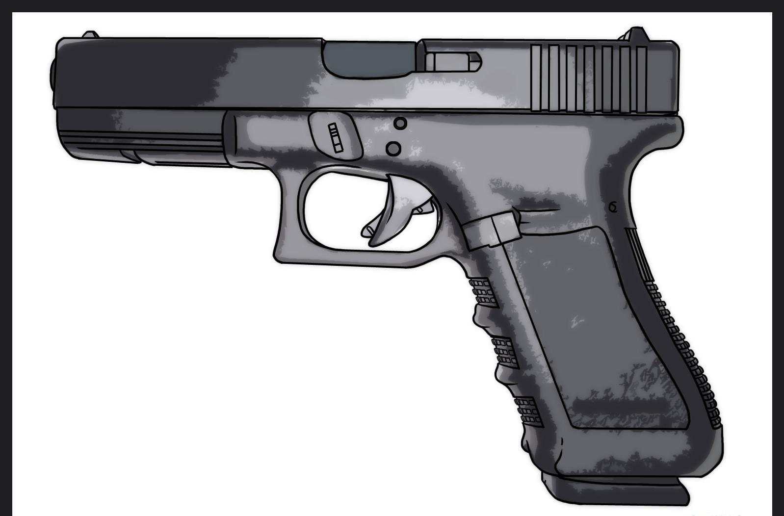 como desenhar uma pistola