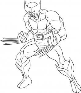 como desenhar o wolverine