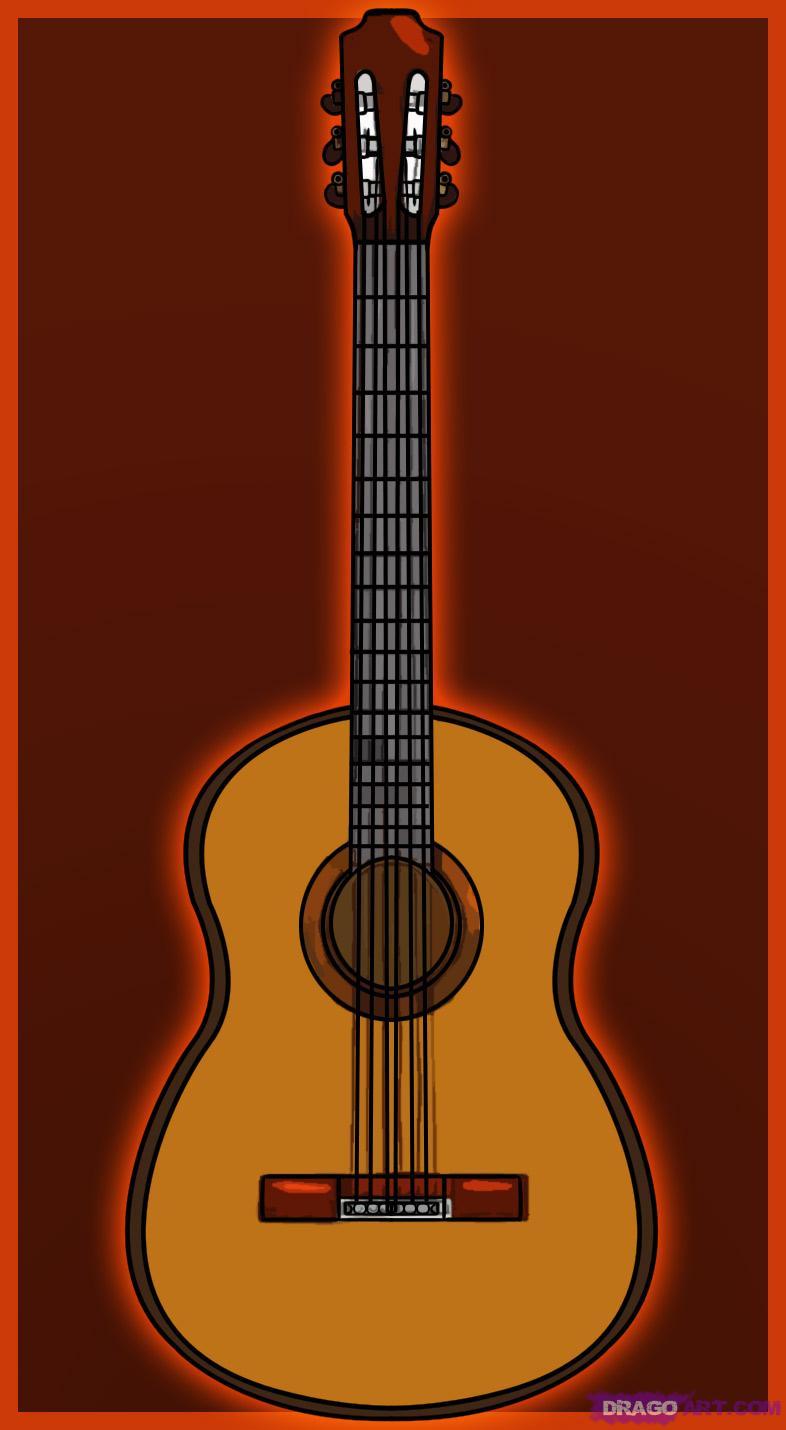 como desenhar um violão