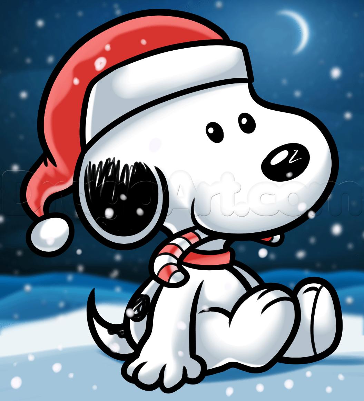Como Desenhar o Snoopy de Natal